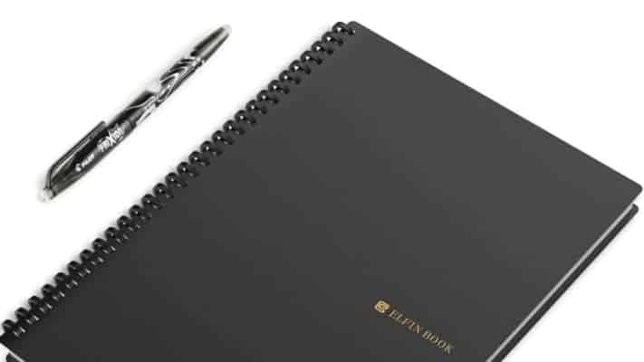 use elfin reusable notebook for church media notes