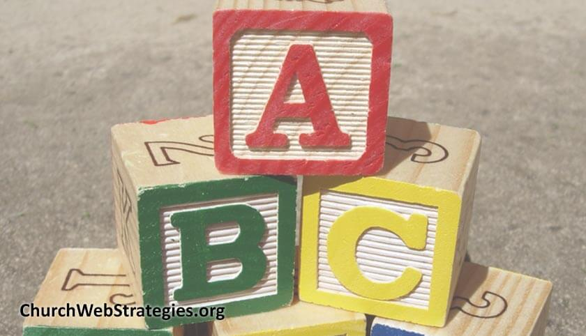 child's wooden alphabet blocks