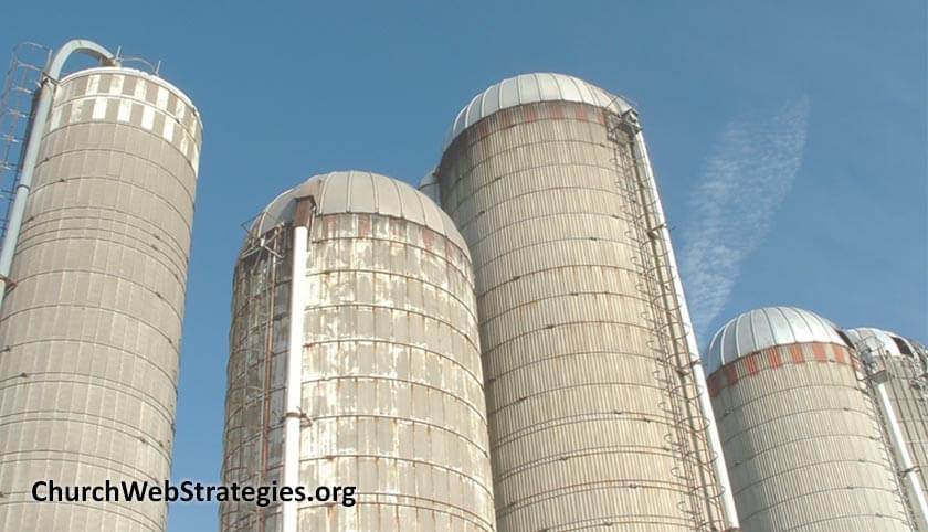 grain silos on a farm