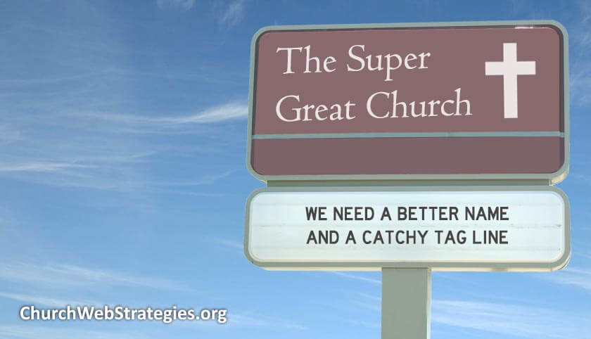 "made-up church sign called ""the super great church"""
