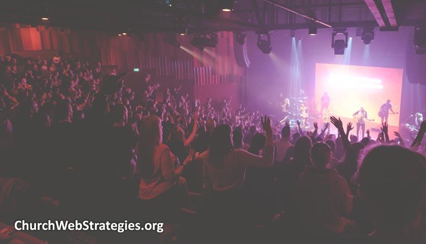 Church worship service