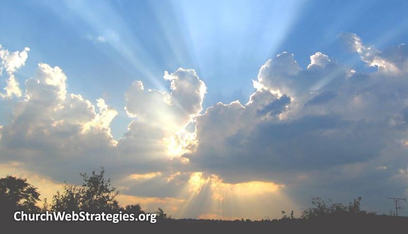 Sunburst through clouds