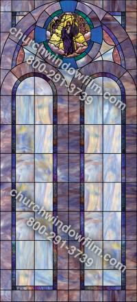 Church Window Film: Decorative stained glass window film.