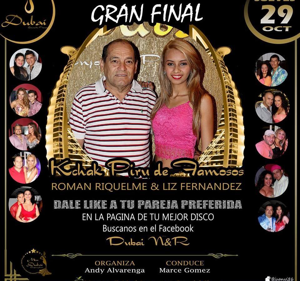 Don Roman Riquelme finalista en concurso de Kchaka Pirú de famosos en la disco Dubai.