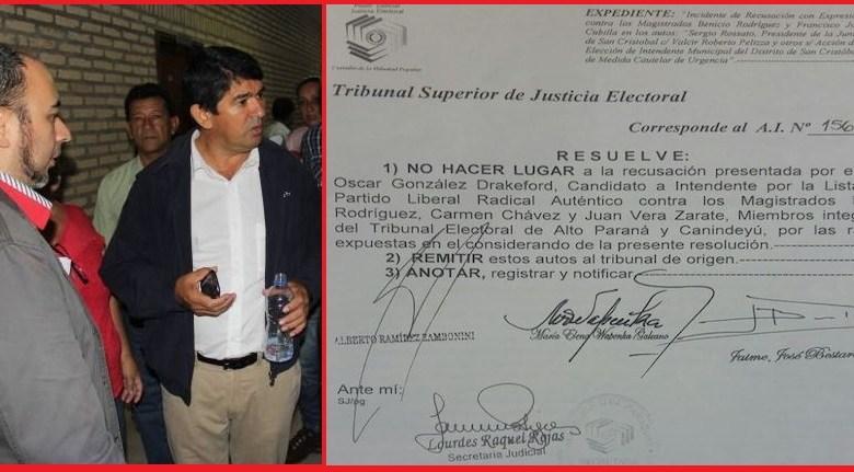Rechazan recusación de Tribunal Electoral de CDE por falta de pruebas. Drakeford está haciendo el rídiculo.