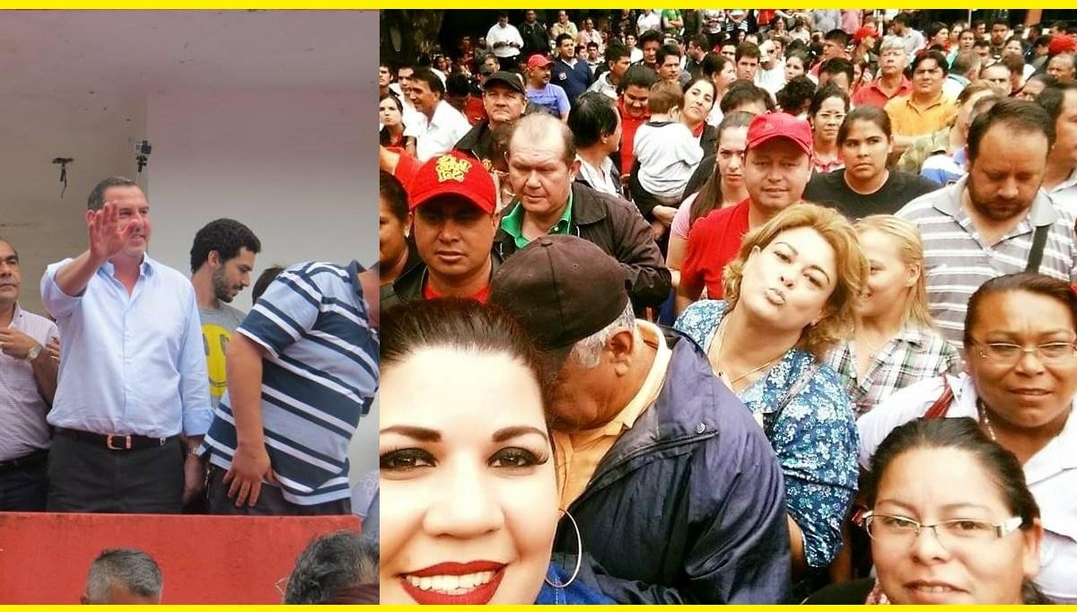 Masivo apoyo a Sandra Zacarias en CDE. Defenderan sus votos dijeron.