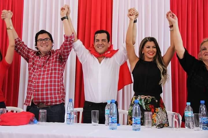Marly Figueredo recupera su título de primera dama del Guairá, Rodolfo Friedmann recuperó la gobernación.