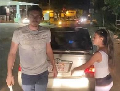 ¡Socorro! Un tilingo atacó salvajemente el auto de Mili la cantante