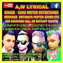Aw Lyrical Booking Information Guyana
