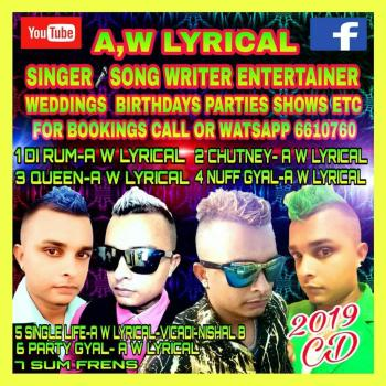 Aw Lyrical Booking Information Guyana