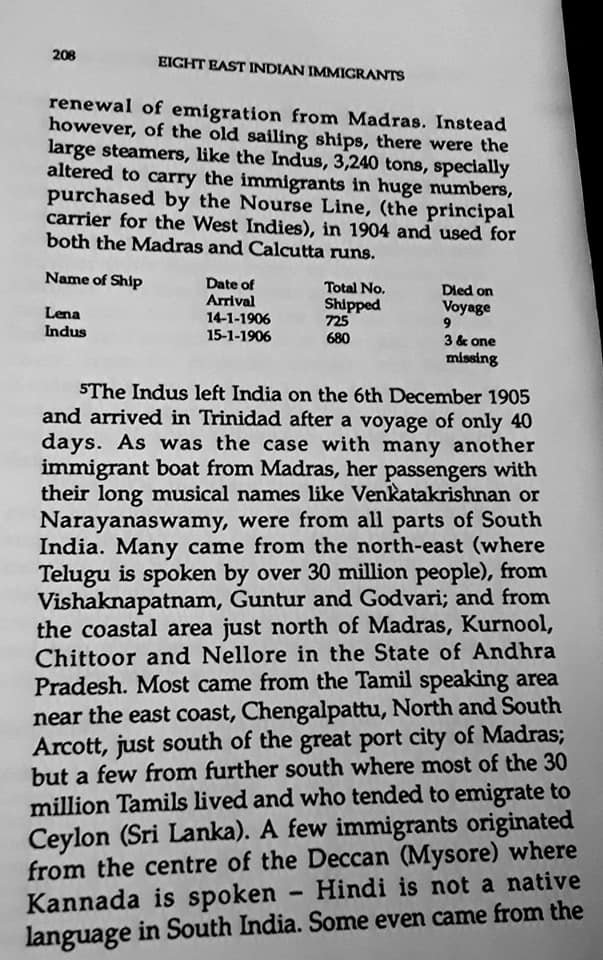 Migration Of The Madrassi Indians To Trinidad 208