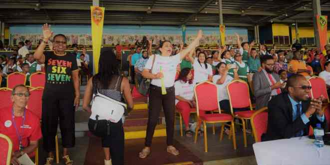 Some Of The Audience Enjoying The Chutney Soca Show