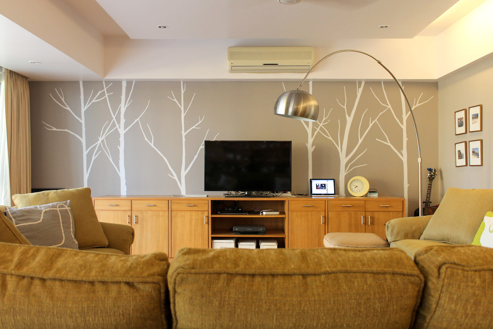 Tree Wall Decals For Living Room hello again winter tree wall decal ☆ living room before & after