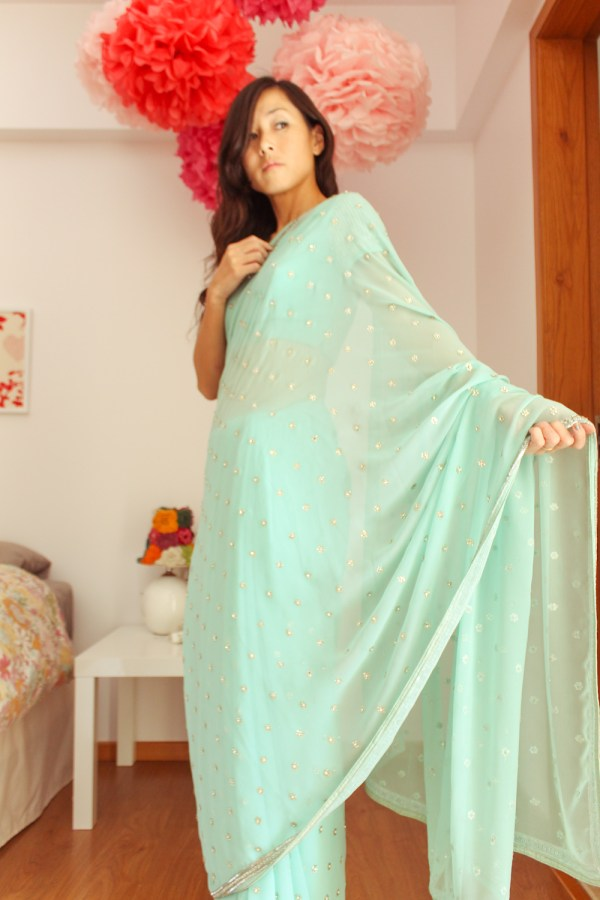 how to wear a saree-10