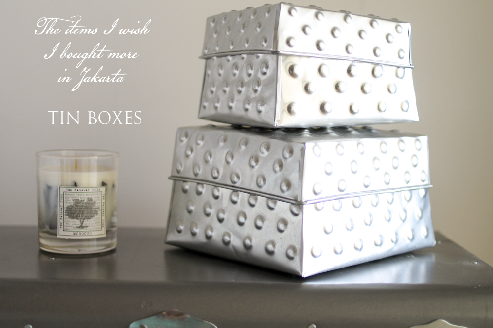 Wednesday Wall2Wall ☆ Tin Boxes As Storage & Decoration ☆ Souvenirs From Jakarta Indonesia