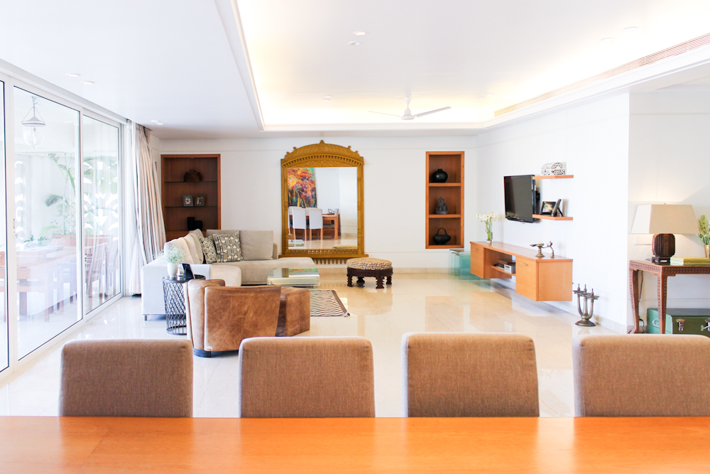 Contemporary Minimalist contemporary minimalist home with indian design | chuzai living