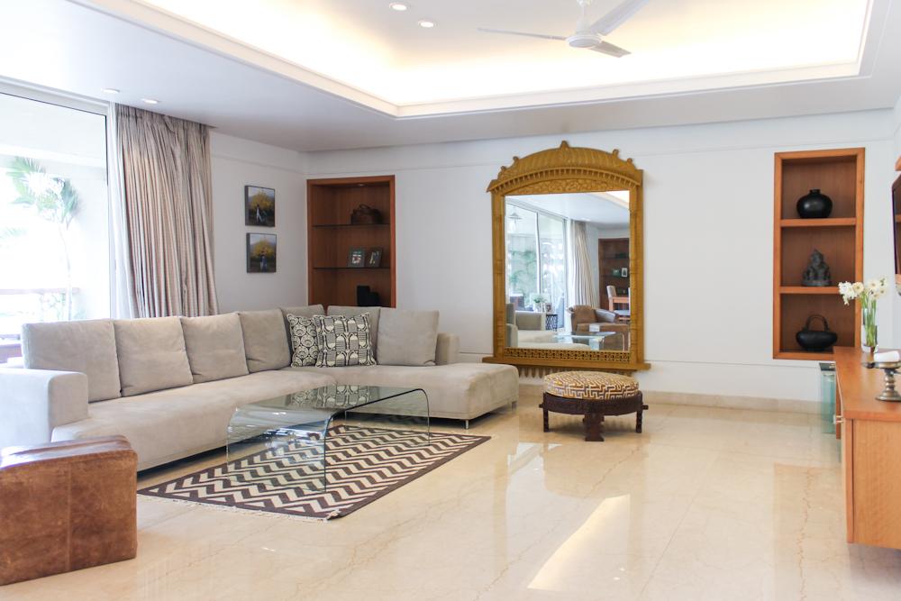 Contemporary Minimalist Home With Indian Design Chuzai