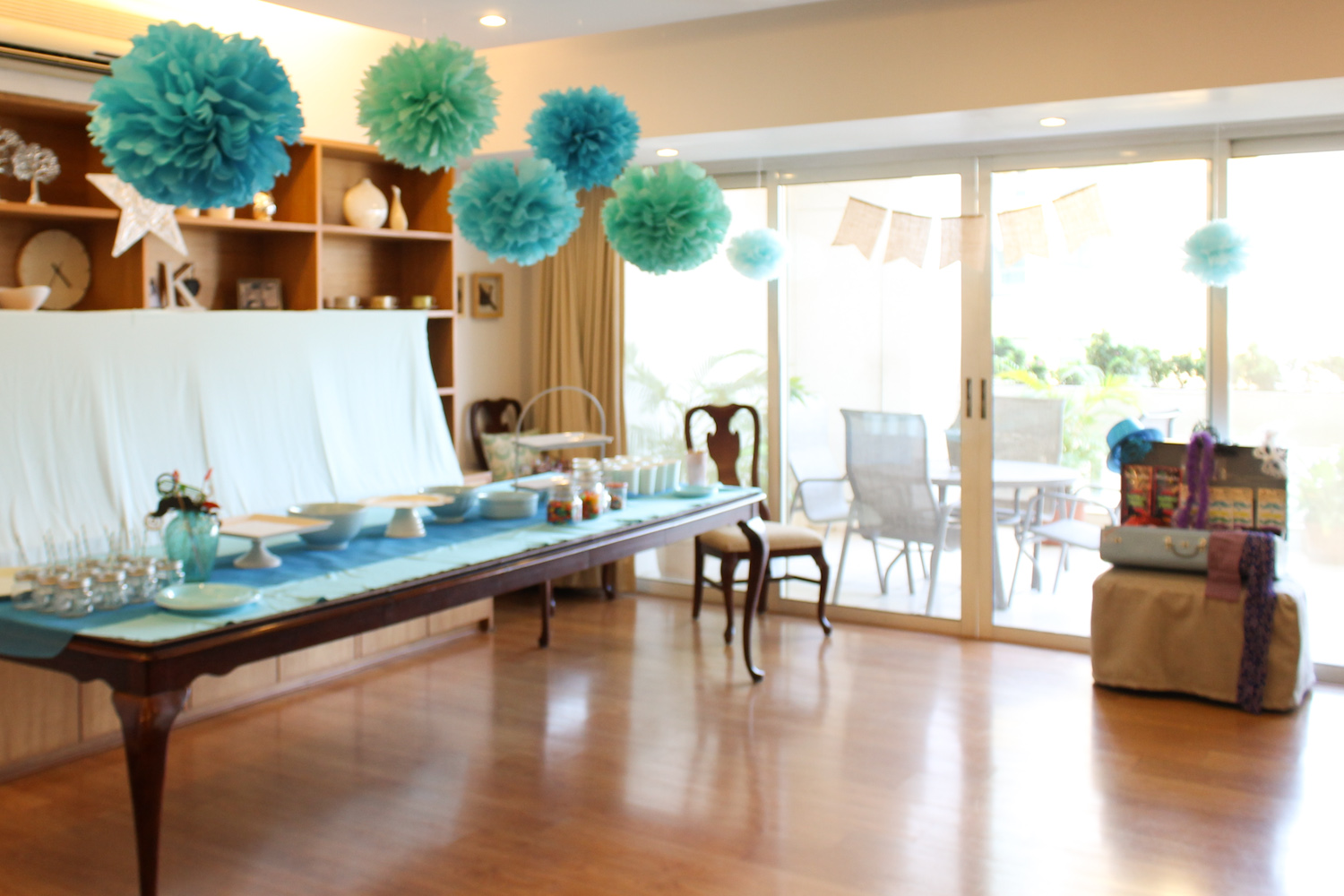 Blue Party Decoration