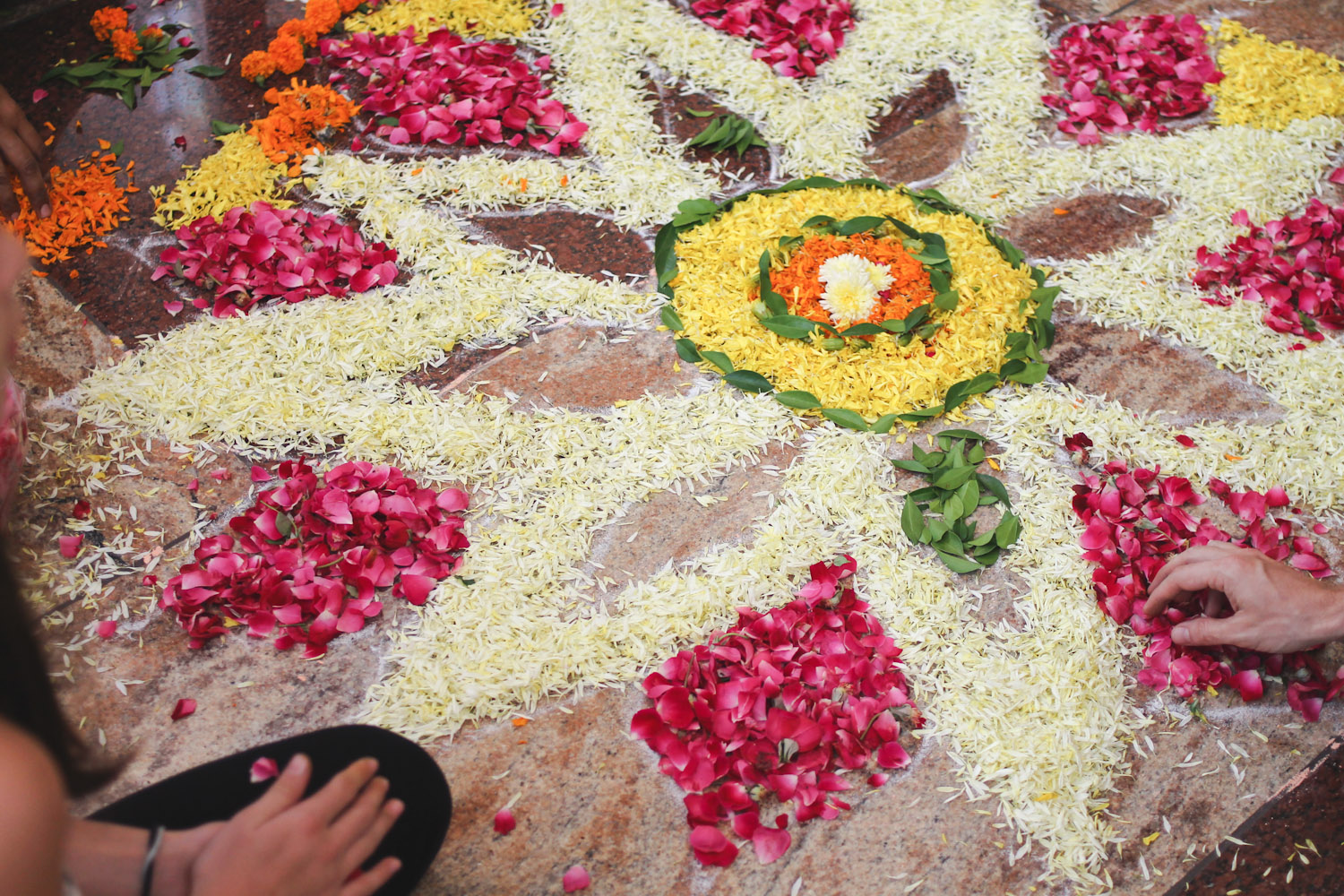 Flower Rangoli Making-13