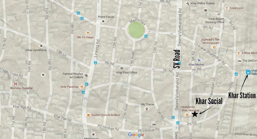 Khar Social Map