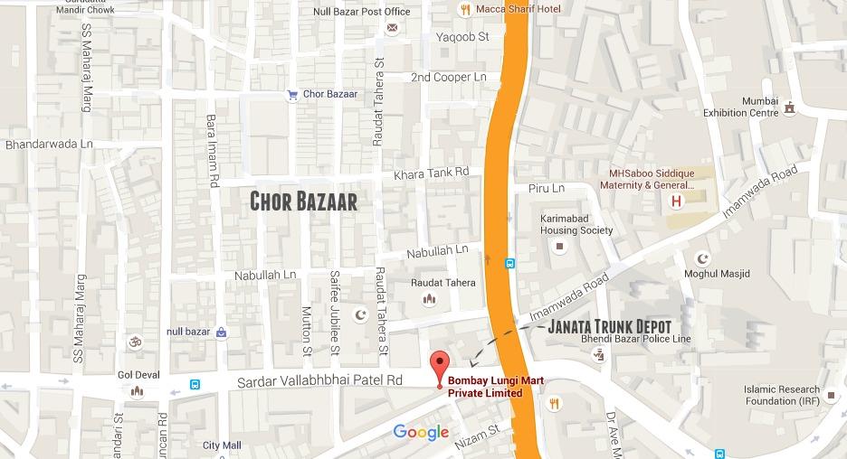 Janata Trunk Depot Map