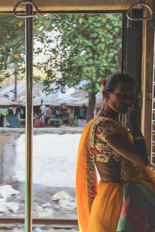 Lady in a yellow sari