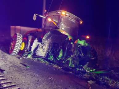 Farm Tractor MVC On Route 301
