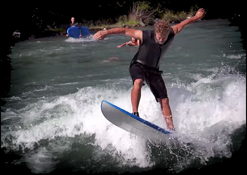 TELUS Optik Local: River Surfing Video in Alberta?