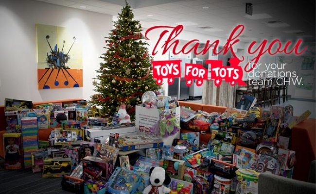 Chw Employees Donate To Toys For Tots Chw Professional