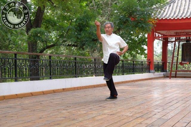 劉仲英先生表演形意拳雞形四把