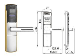CHZ-HU 918 6 Elektronické čipové zámky