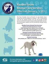 Garden Grove Animal Care Services Coming January 1, 2017 ...