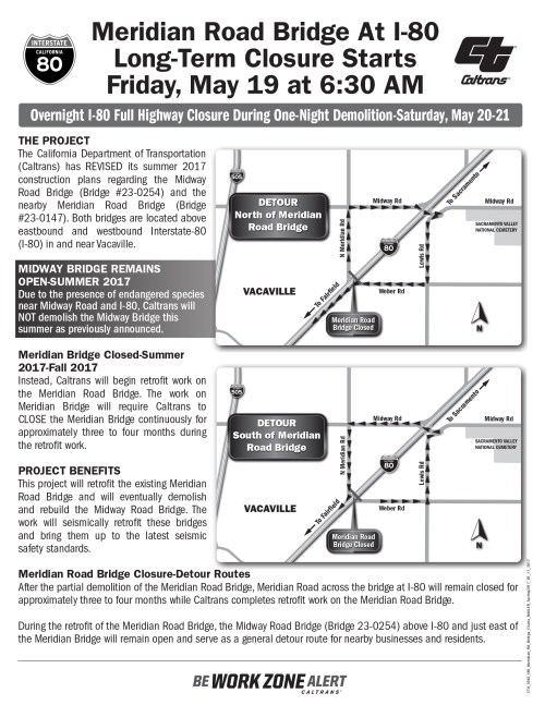 small resolution of page 1 of the meridian road overcrossing closure flyer