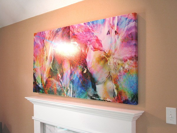 "' Smiling - Large Canvas Print 60"" X 30"""