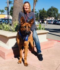 Livia at an Dog Adoption Event by Coastal German Shepherd Rescue Orange County