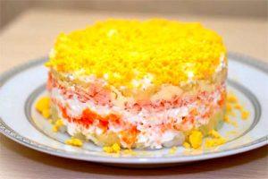 Cucina Russa Mimosa insalata russa di pesce  Ciao Italia Russia