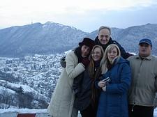 Il panorama di Brasov in inverno