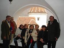 Nel balcone del Castello di Dracula