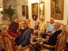 Si gioca a carte nella hall del albergo Imparatul Romanilor Sibiu
