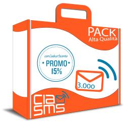 CiaoSMS Pack 3.000 SMS Alta Qualità
