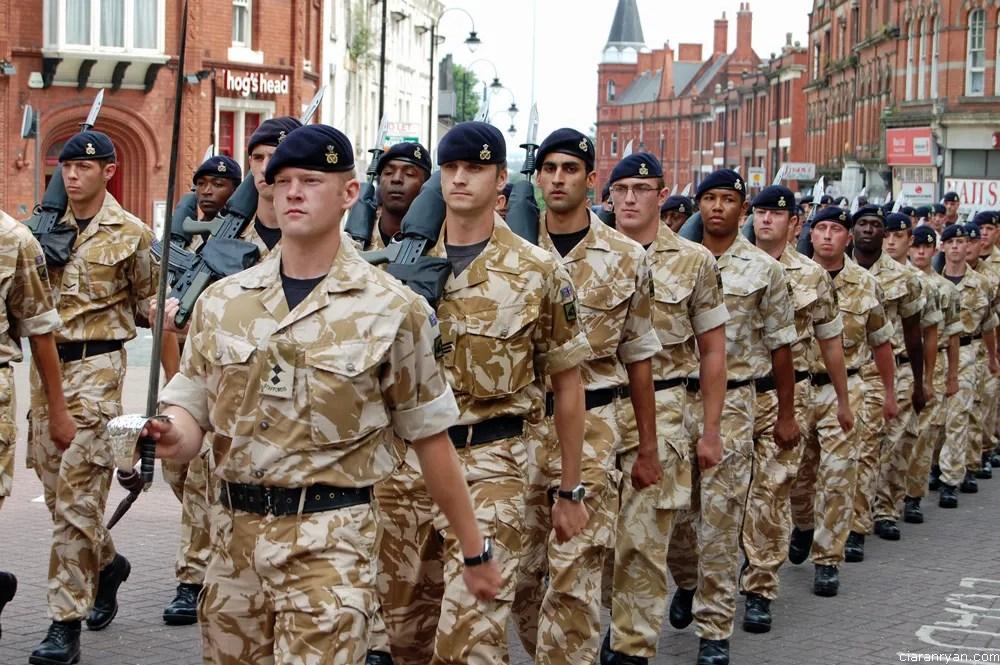 The Staffordshire Regiment's last march through Wolverhampton