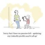 Cartoon about Linkedin social media network