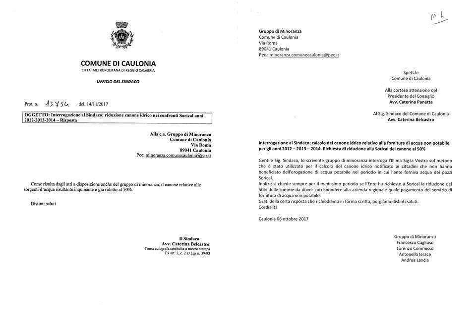 Caulonia Officina delle Idee lamministrazione