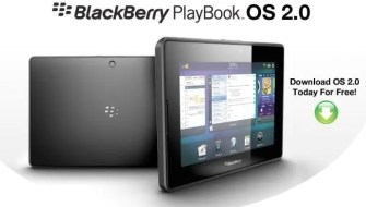 BlackBerry PlayBook OS 2.0 será lançado neste mês.