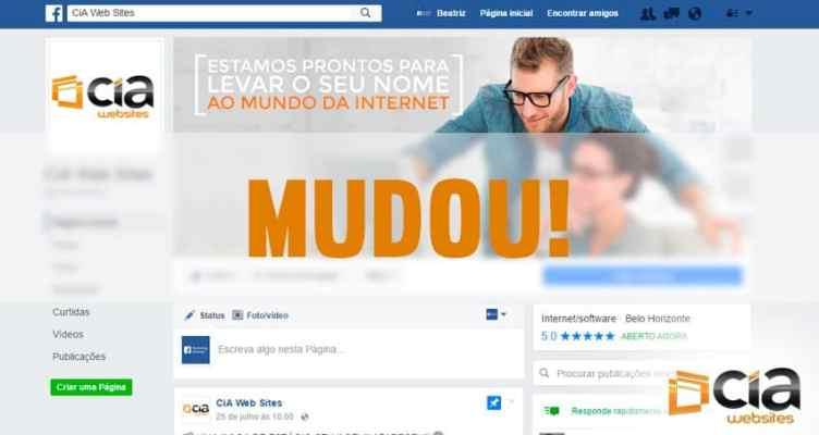 Facebook: Mudanças nas Fanpages