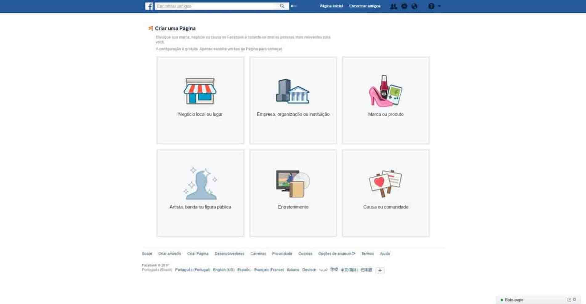 Dicas para Facebook - Criar Fan Page