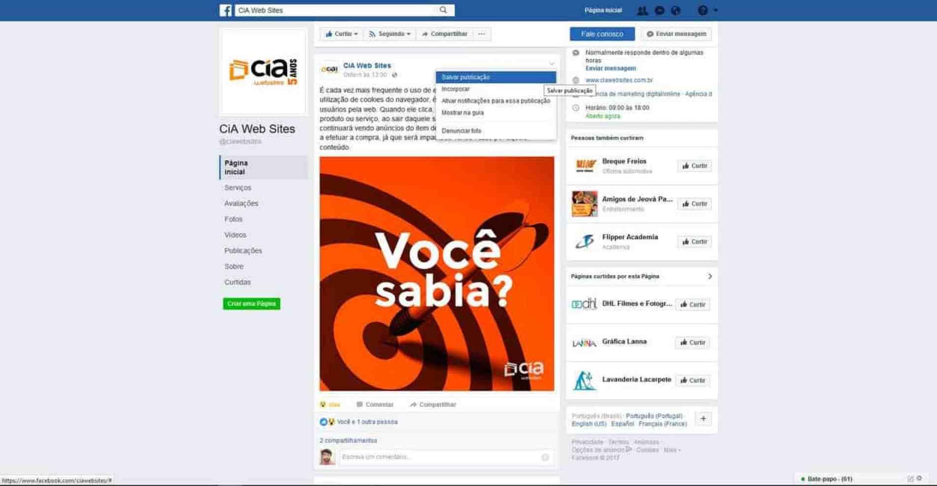 Dicas para Facebook - Salvar para ler depois