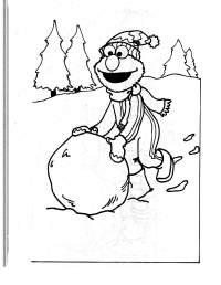 Free coloring pages of monstruo de las galletas
