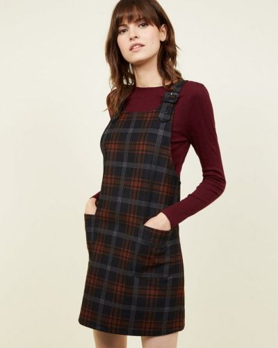 black-check-brushed-buckle-pinafore-dress-