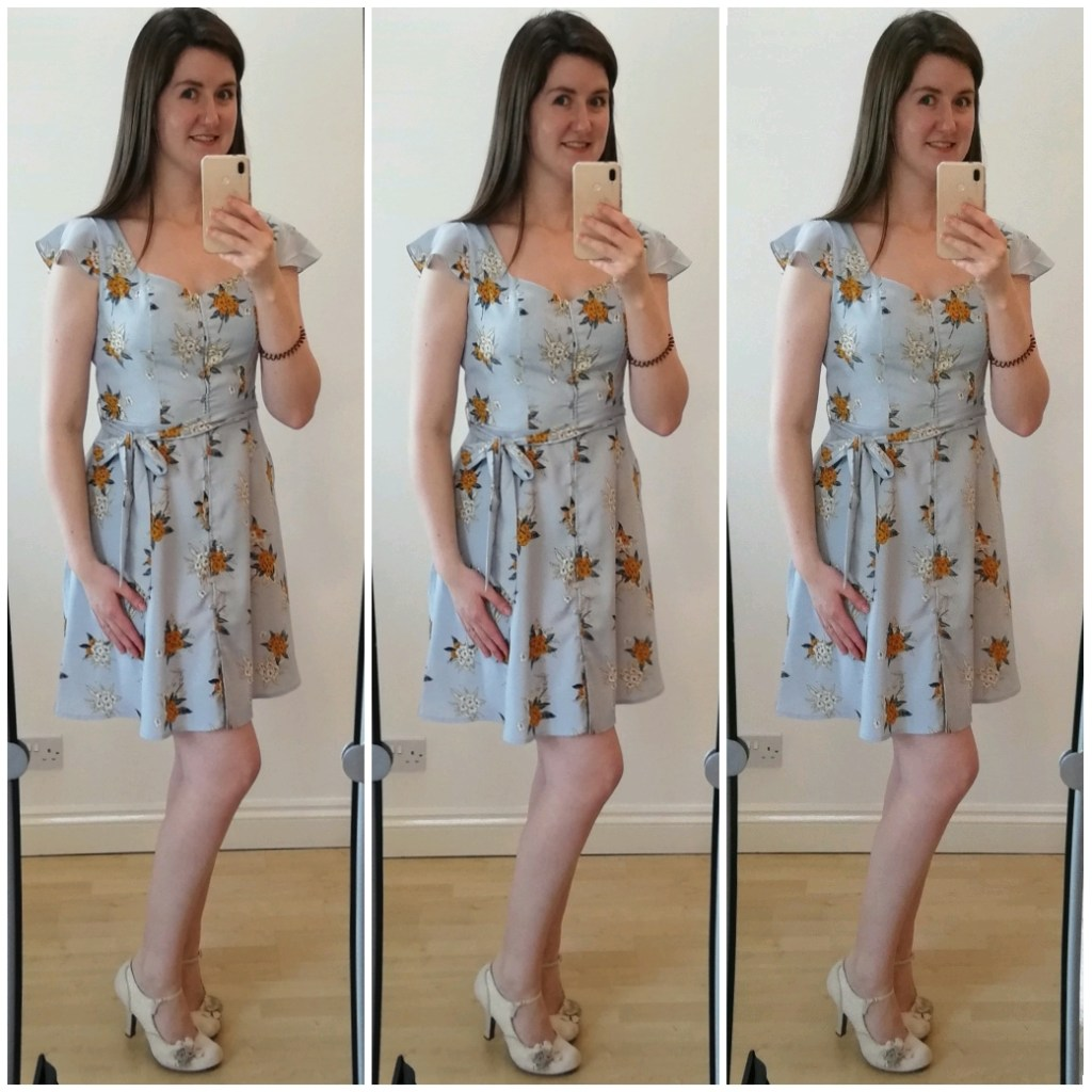 Baby blue tea dress